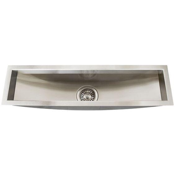 16 Gauge Undermount Kitchen Bar Trough Sink #Ticor $129 Kitchen sink ...