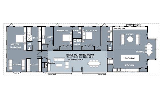 Functional Shotgun House Floor Plan Google Search