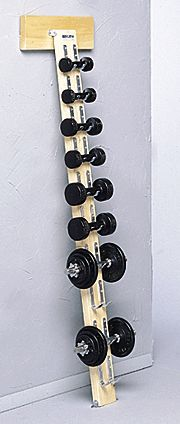 Space saving with vertical setup but hits floor so weights not relying on wall mount.