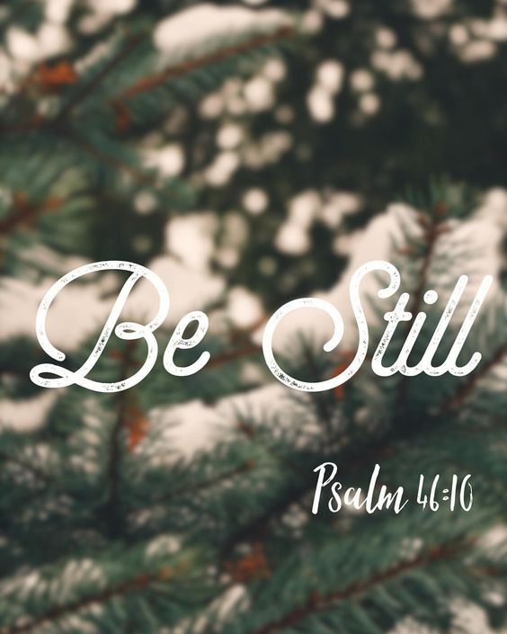Be still. Take time and pray. Thank God for the simple things in your life right now. I am thanking God for my quiet time this morning, and the peace he gives me when I ask.
