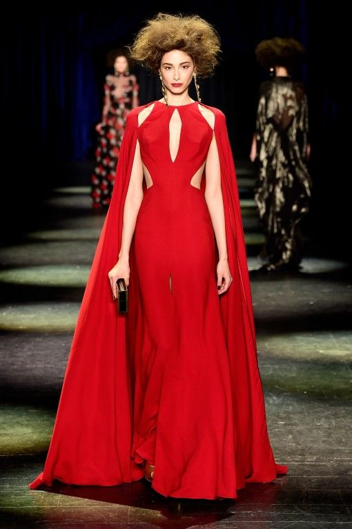 Naeem Khan Fall 2016 at New York Fashion Week BLACK PLEASE!!!!!!