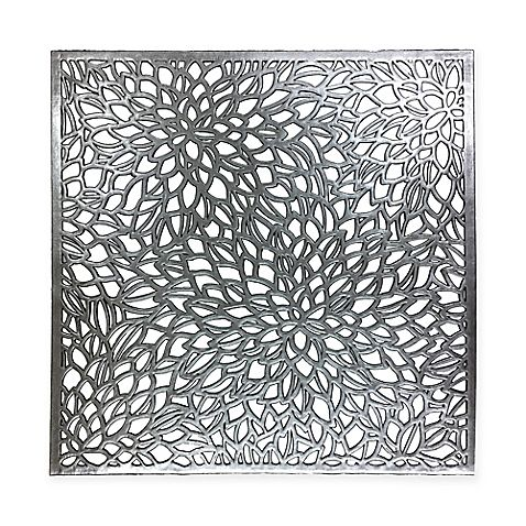 Modern Flower Placemat In Silver Black Would Be Perfect For Clay Design Modern Placemats Placemats Modern Flower