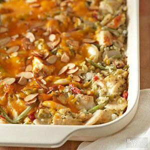 This stick-to-the-ribs casserole makes perfect potluck fare. Serving chicken in chunks rather than whole breasts makes it easy for diners to take just a spoonful. Don't be surprised, however, if they come back for more./
