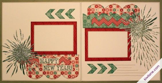 Happy New Year 2-page Layout by: Christina Steel