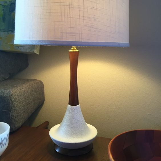Vintage Danish table lamp.  What an amazing thrift find!!!