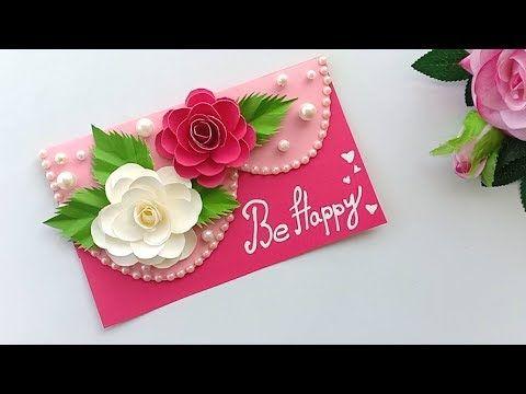 Beautiful Handmade Birthday Card Birthday Card Idea Youtube Diy Birthday Card For Boyfriend Greeting Cards Handmade Handmade Teachers Day Cards
