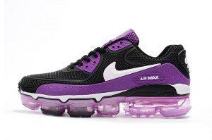Womens Nike Air Max 90 KPU Black Purple White 875695 604 Running ...