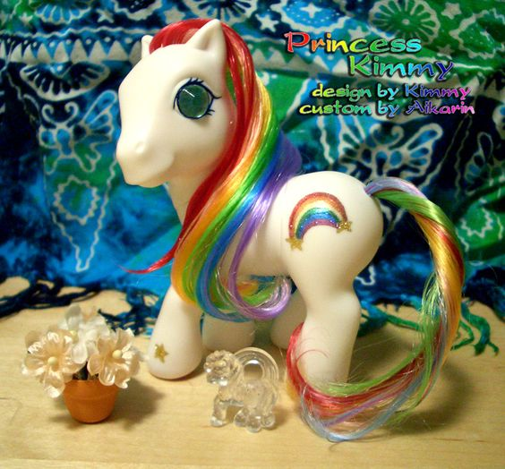 Princess Kimmy - custom rainbow themed pony by Aikarin