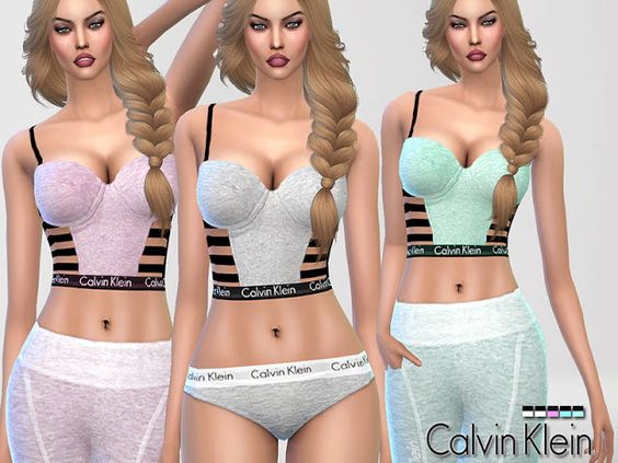 Sims 4 CC's - The Best: Calvin Klein Bustier by Pinkzombiecupcake
