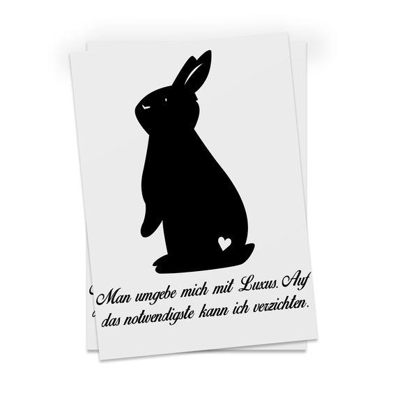 Postkarte Kaninchen Hase aus Karton 300 Gramm  weiß - Das Original von Mr. & Mrs. Panda.  Diese wunderschöne Postkarte aus edlem und hochwertigem 300 Gramm Papier wurde matt glänzend bedruckt und wirkt dadurch sehr edel. Natürlich ist sie auch als Geschenkkarte oder Einladungskarte problemlos zu verwenden.    Über unser Motiv Kaninchen Hase  Die Nagetiere sind bei Kindern wegen ihrer Größe, wegen dem flauschigen Fell und ihrem ruhigen Gemüt sehr beliebt. Kinder lieben es, sich um den kleinen…