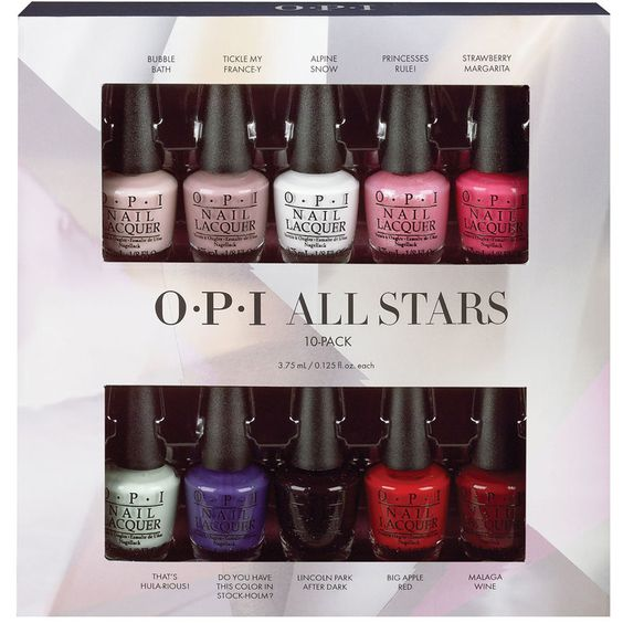 Coffret de 10 mini vernis à ongles – All Stars - 10 vernis - OPI | beauteprivee.fr