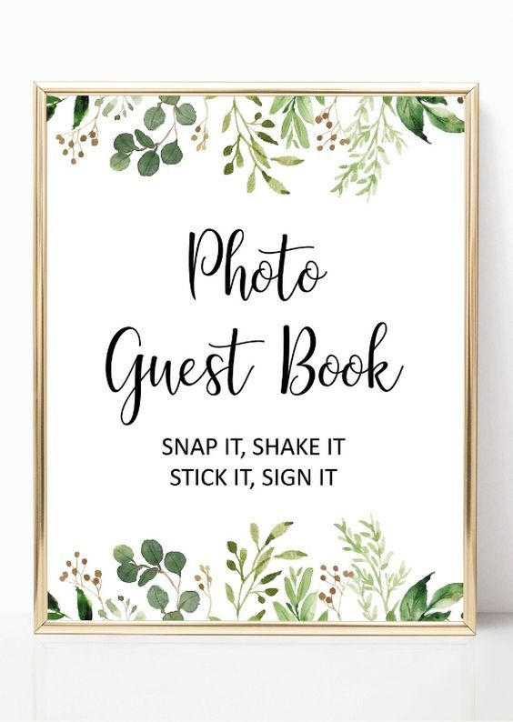 Botanical wedding guestbook ideas Garden wedding gift for bride Wedding sign in wedding album planner CO Personalized polaroid guest book