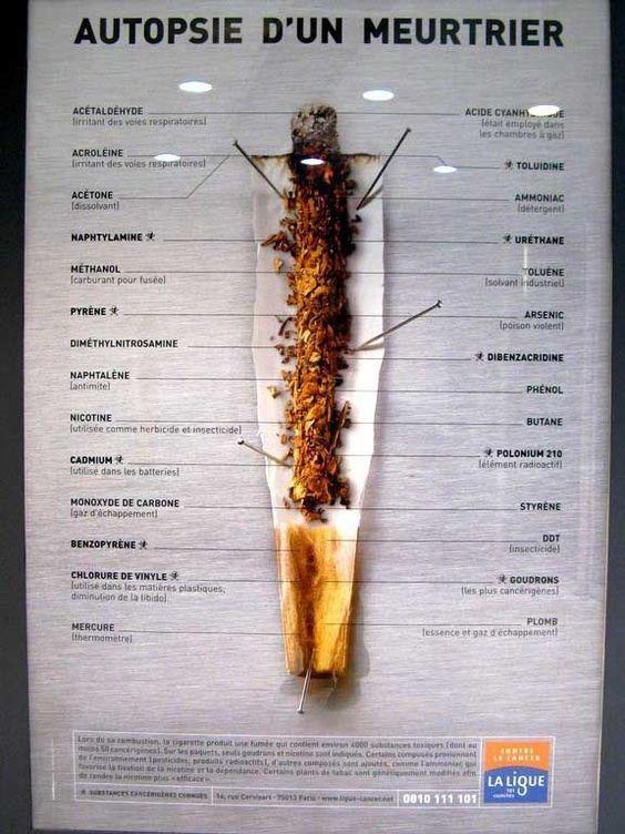 Campagne de la Ligue contre le Cancer - orévention tabac