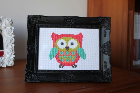 Owl I Cross-Stitched for my brothers girlfriend then framed