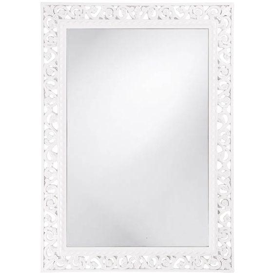 Howard Elliott Rectangle Bristol Glossy White Mirror 6041W