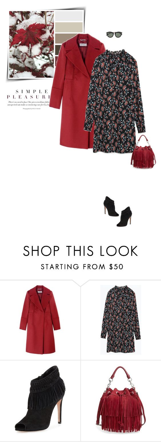 """Winter florals"" by sophiek82 ❤ liked on Polyvore featuring Sportmax, Zara, Rebecca Minkoff and Karen Walker"