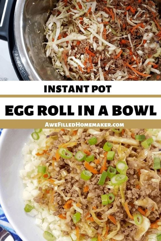 Instant Pot or Pressure Cooker Egg Roll In A Bowl