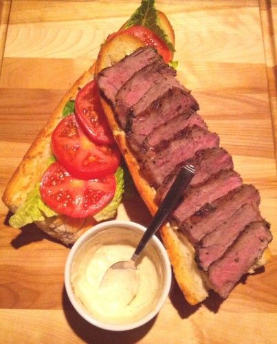Broiling a new york strip steak
