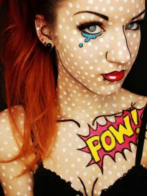 this is a really creative idea for halloween makeup... made me think of my lady kate chaos :0