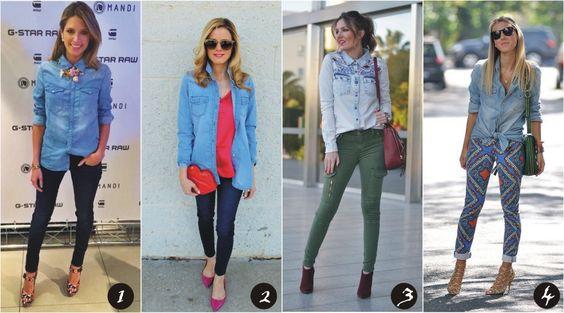 8 Formas de usar a camisa jeans - Blog Ela inspira - http://www.elainspira.com.br/8-formas-de-usar-a-camisa-jeans/