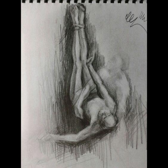 A crucificação de São Pedro - Guido Reni - Grafite 2H/7B