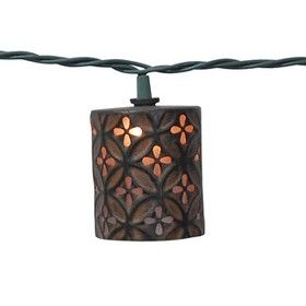 String Patio Lights At Target : Threshold Metal Cylinder String Lights (10ct) : Target Mobile Lights and lanterns Pinterest ...