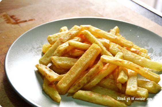 patatas fritas 3 Trucos para hacer unas patatas fritas crujientes crujientes