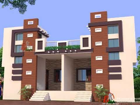 Porch Attatch Horizontal Stair Case Tower Designs Youtube House Elevation Small House Elevation Design Duplex House Design