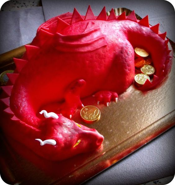 Gâteau dragon, inspiration le Hobbit