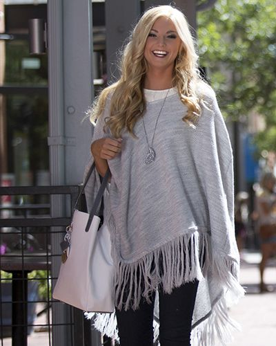 ClaudiaG Collection - ClaudiaG Shawl -  Grey SPECIAL Black Friday Pricing through 11/27