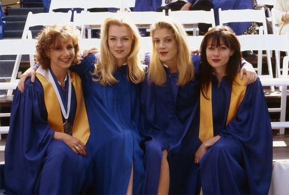 Gabrielle Carteris, Jennie Garth, Tori Spelling, Shannen Doherty, Saison 3 - Beverly Hills 90210 - © Paramount HE