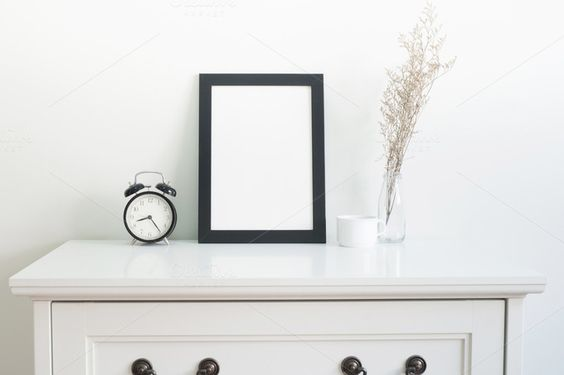 Mock up poster on table by ptystockphoto on @creativemarket