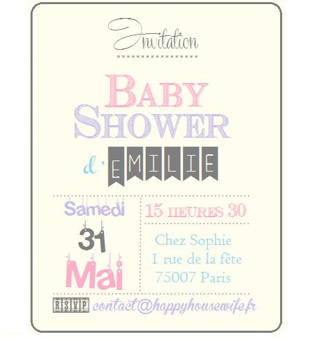 ☆ Carte Invitation Baby Shower à imprimer ☆ : Cartes par happyhousewife