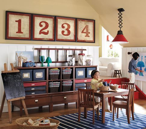 Cameron Wall Library Base Set | Pottery Barn Kids: Kid Playroom, Kids Playroom, Kids Room, Pottery Barn Kids, Framed Number