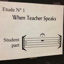 Music humor -  (Student part: REST your mouth for an extended amount of time!)  This works in my classroom!  :)
