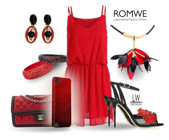 """Red and Black Fashion"" by kashmier ❤ liked on Polyvore featuring Oscar de la Renta, Chanel, Trilogy, Marni, Christian Dior, leatherwooddesign and redandblackfashion"