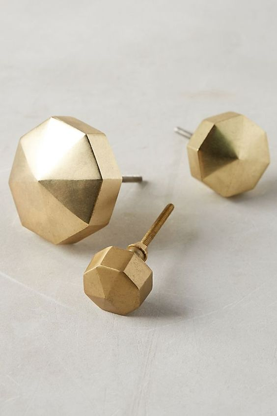 brass faceted Ory knob by anthropologie