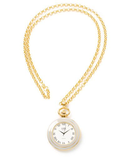 watch necklace. I'll ask my friends to tell me the time.
