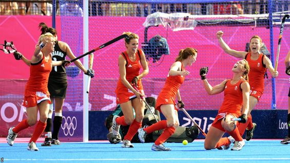 Christa Cullen TeamGB celebrates her goal in their 3-1 win over New Zealand in the Bronze Medal match
