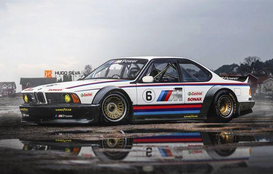 BMW M635 CSL race car by hugosilva.deviantart.com on @DeviantArt