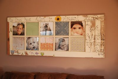 old door into picture frame