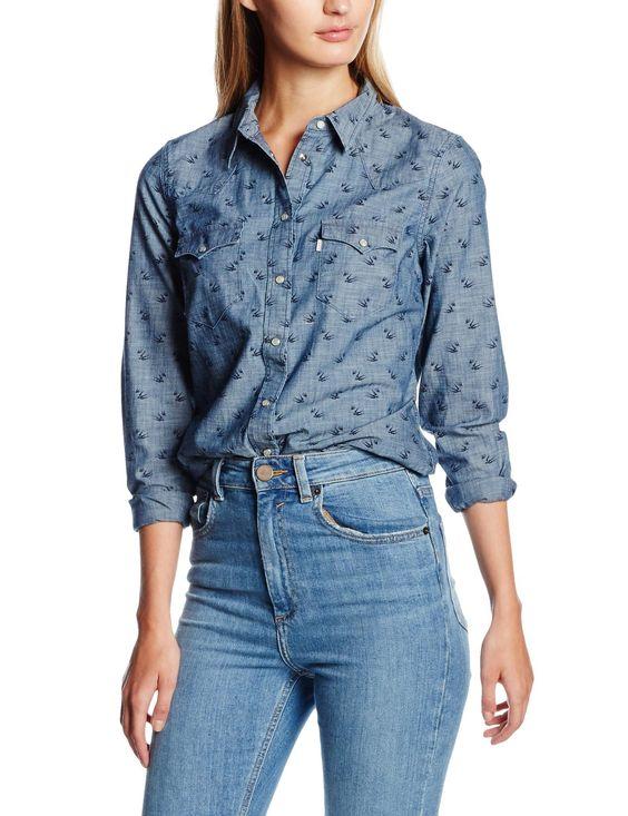 Levi's SWALLOWS TAILRD CLASSIC WESTERN-Camicia Donna: Amazon.it: Abbigliamento