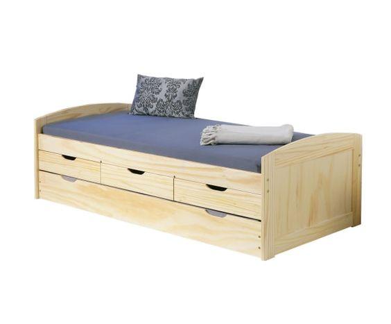 Estructura de cama nido en madera lisa cama de 90x190 cm for Cama nido estructura