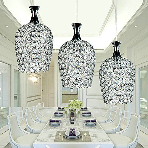 Brilliant Crystal Island Lights Dinggu Modern 3 Lights Crystal