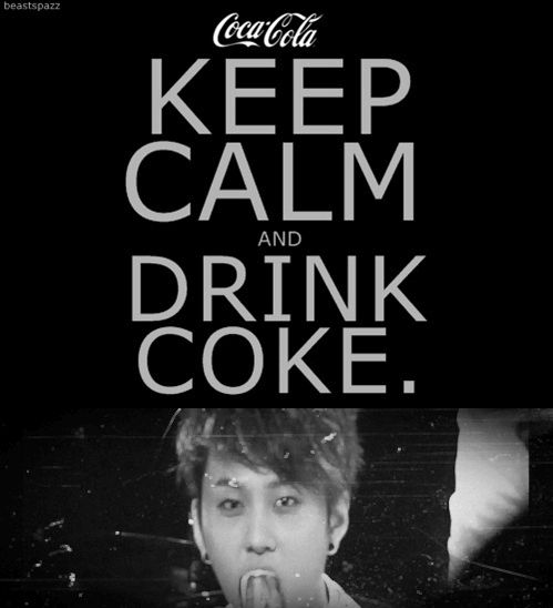 If it wasn't for Coke or chocolate, I'd have to take up drinking alcohol!
