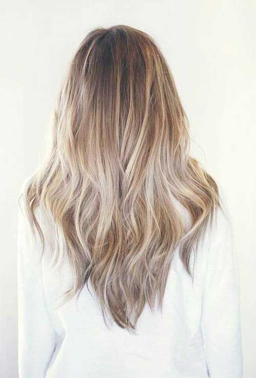 9 V Form Lange Haarschnitt V Schnitt Haare Haarschnitt Lange Haare Schneiden
