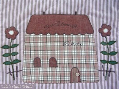 Ulla's Quilt World: Quilted Tilda blanket, Houses