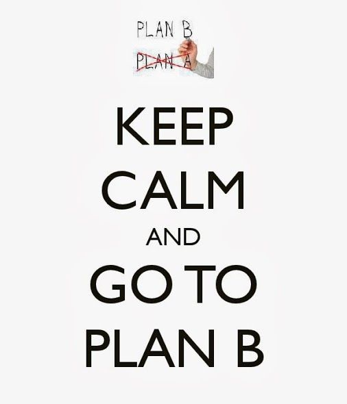 Image result for keep calm and plan b