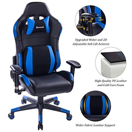 Killabee Multifunctional Gaming Chair 300lb Elegant Computer Desk Chair With Soft Memory Foam Seat Gaming Chair Memory Foam Seat Cushion Computer Desk Chair
