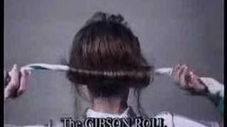 How to Gibson Roll Hair, via YouTube.